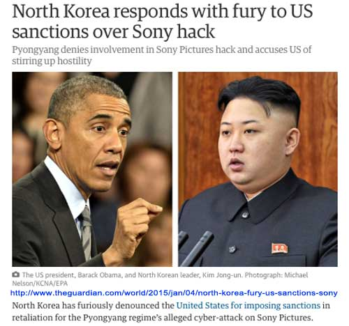 North Korea responds with fury to US sanctions over Sony hack from the Guardian UK