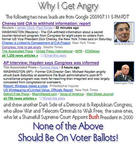 Why I get angry == Congress fails to do their job