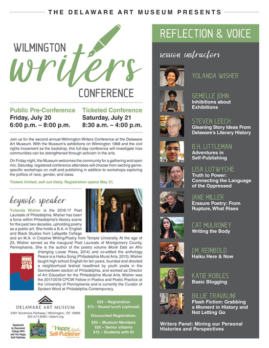 WILMINGTON WRITERS CONFERENCE: REFLECTION AND VOICE