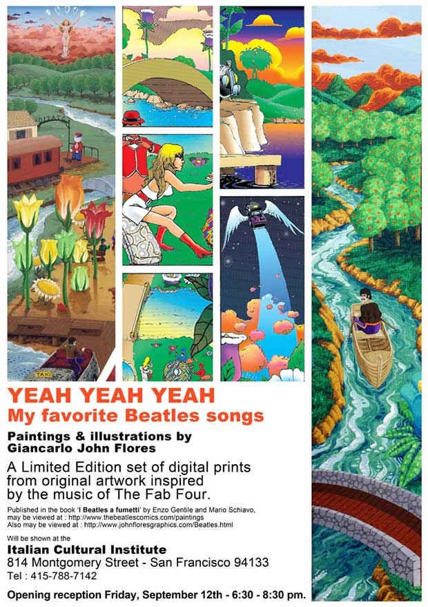 Yeah Yeah Yeah ~ My favorite Beatles songs ~ Paintings & illustrations by Giancarlo John Flores